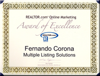 Multiple Listing Solutions is the proud recipient of the Realtor.com� Online Marketing Award of Excellence!